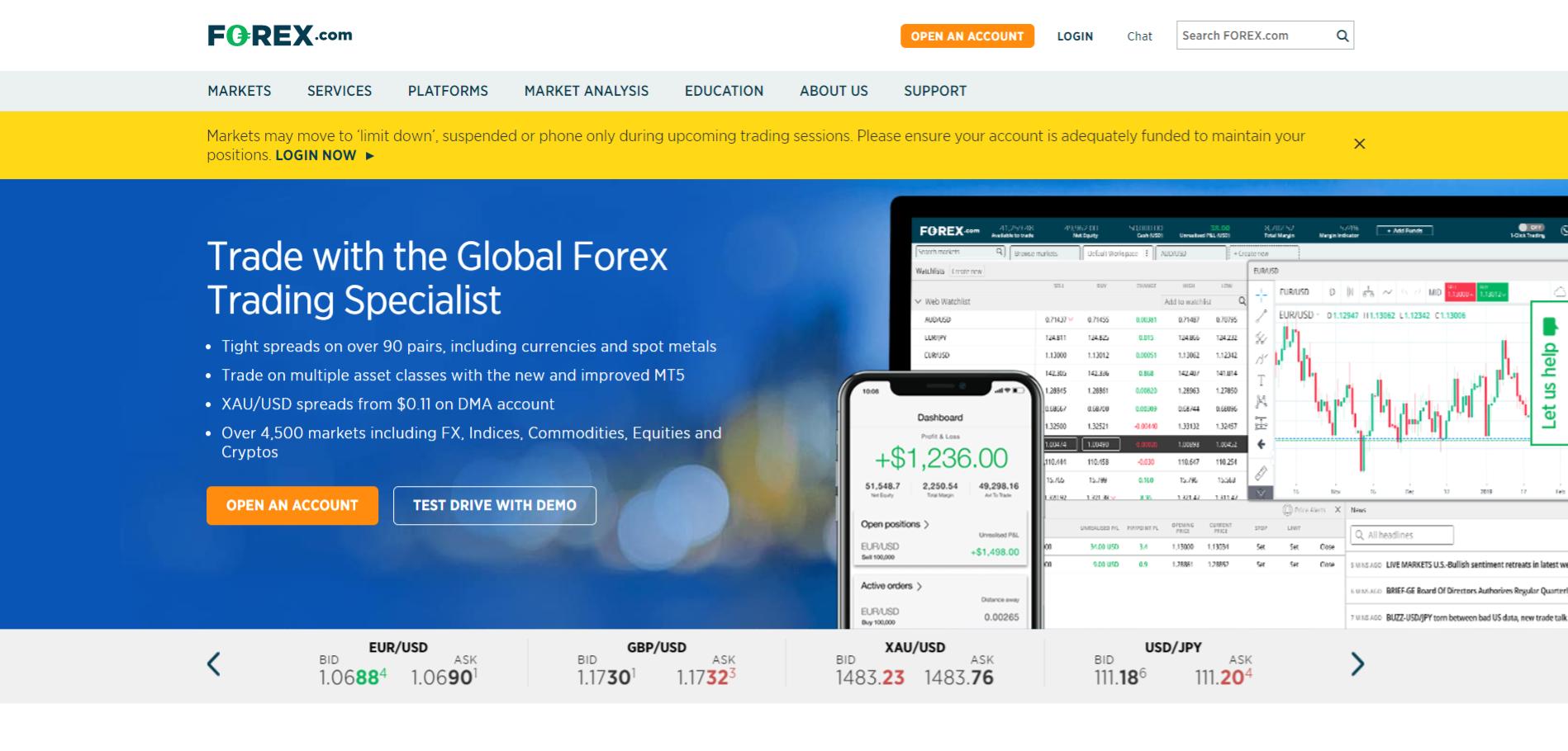 Forex.com Meilleurs brokers Forex
