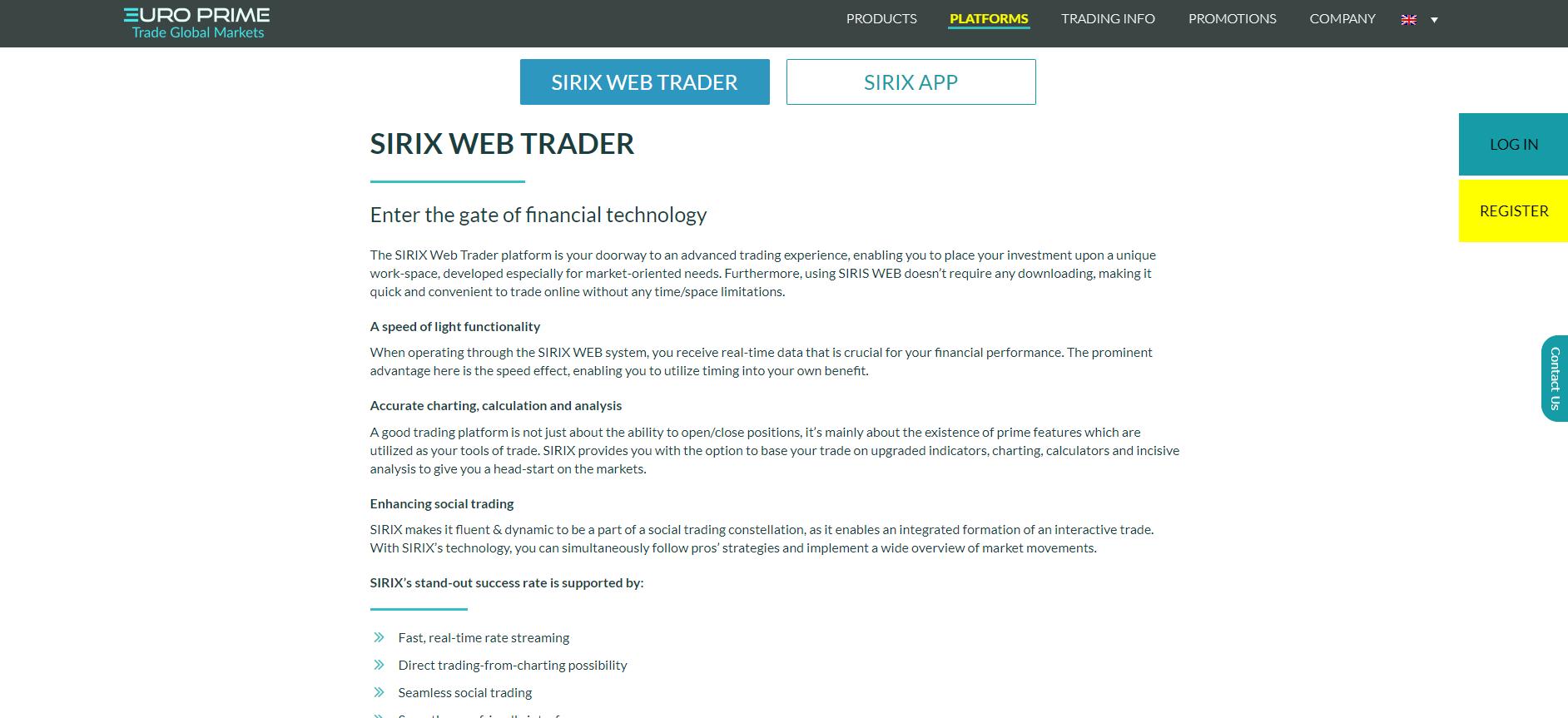 uro prime webtrader platform