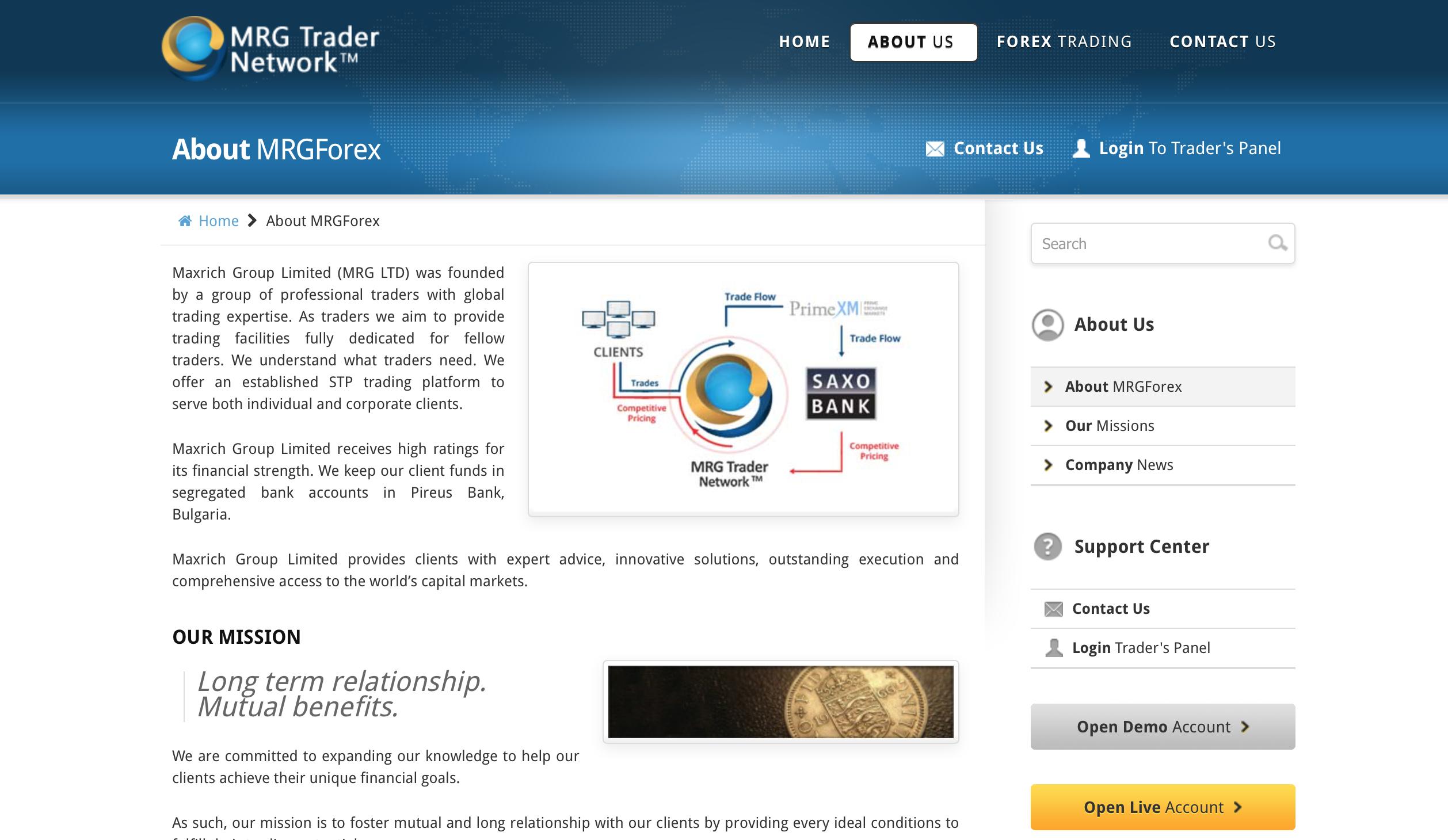 MRG Trader Website