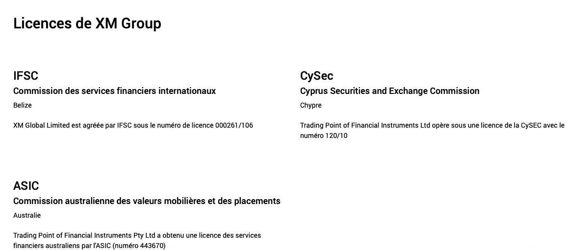 Broker Forex sous licence XM