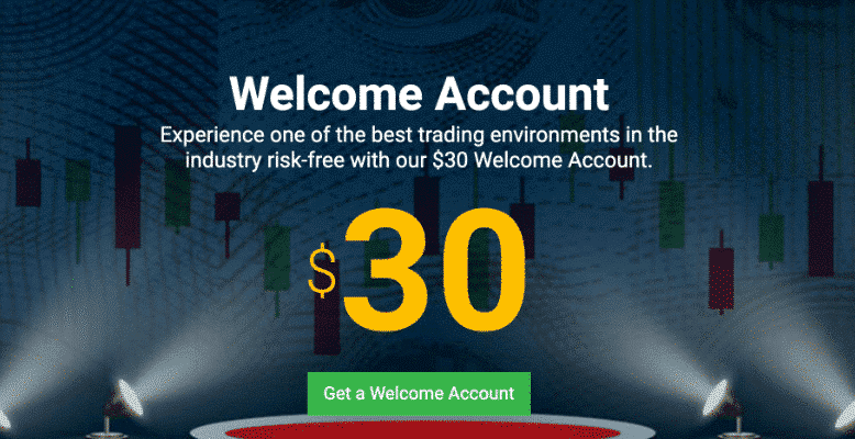 Tickmill $30 Welcome Account