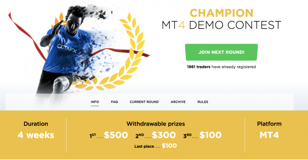 OctaFX Champion MT4 Demo Contest