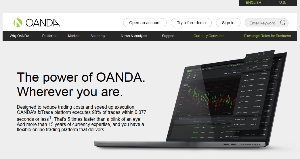 OANDA reviews platform