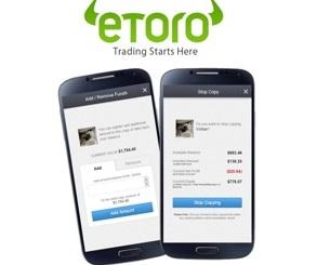 eToro platform mobile
