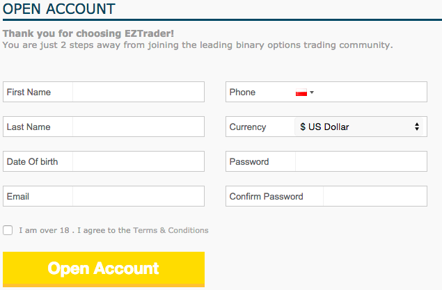 eztrader registration