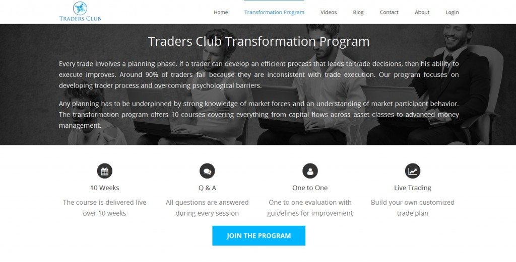 TradersClub London features Review