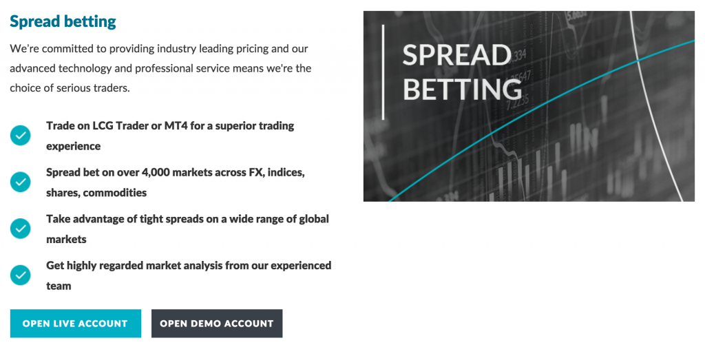 LCG Spread Betting Account