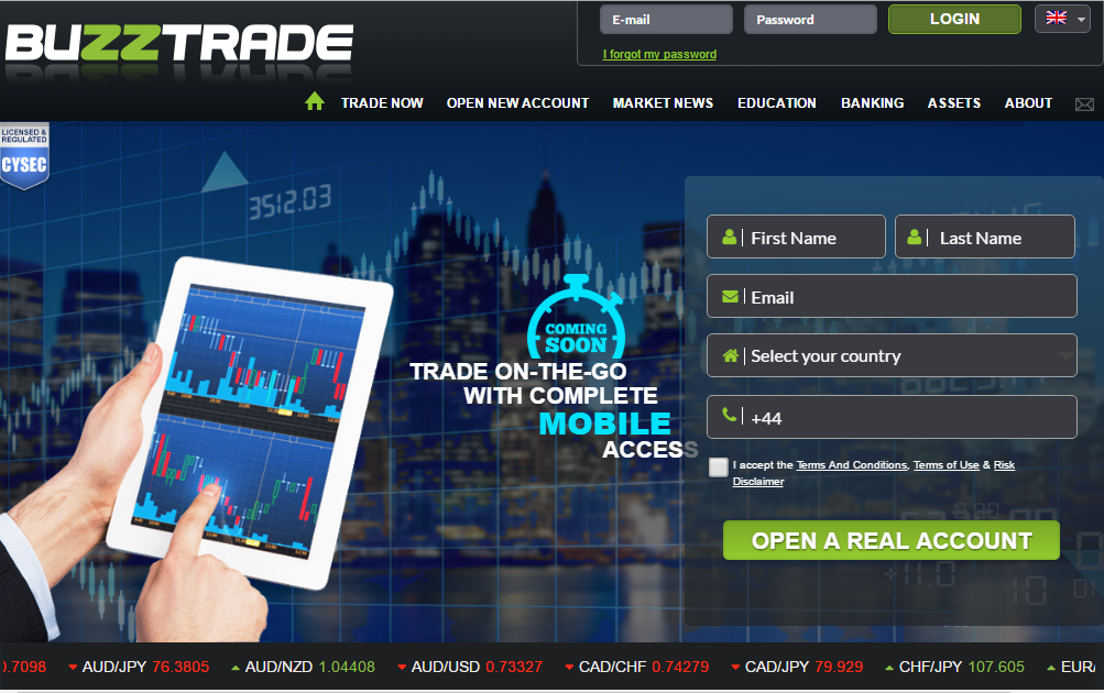 BuzzTrade homepage