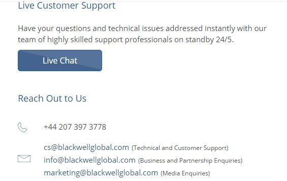 blackwell customer support review