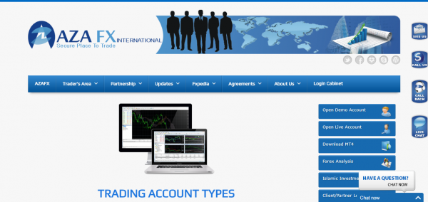 Aza FX Account Types review