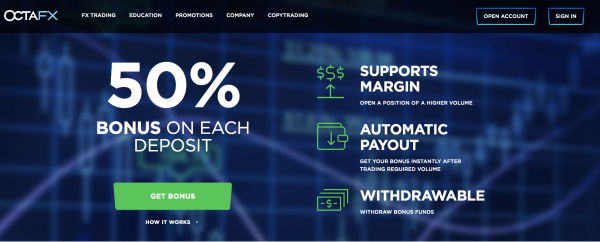 OctaFX Deposit Bonus